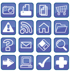 computer-interface-buttons vector image