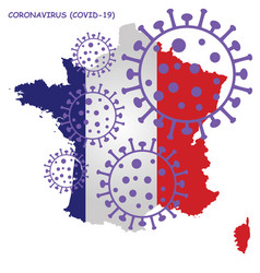 Coronavirus covid 19 france map vector
