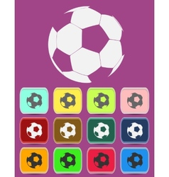 Creative Soccer Ball Icon vector