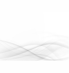 curve and blend gray and white abstract vector image