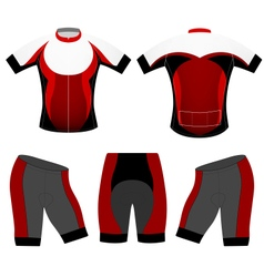 Cycling clothing vector