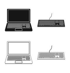 Design of laptop and device logo vector