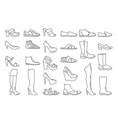 different shoes for men and women vector image