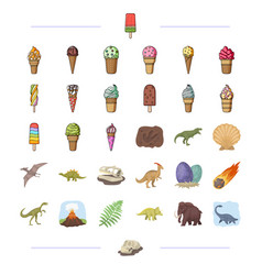 Different types of ice cream and other web icon in vector