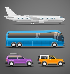 Different vehicles vector image