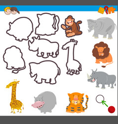 educational activity with shapes vector image vector image