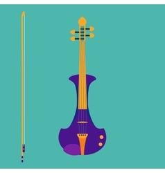 Electric violin vector image