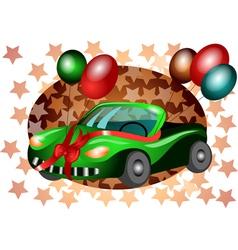 festive car vector image