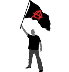 Flag anarchy vector