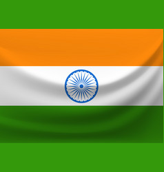 Flag of india clipart vector
