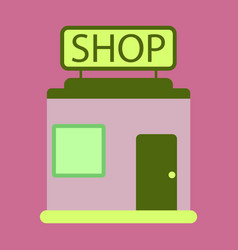 Flat icon shop vector