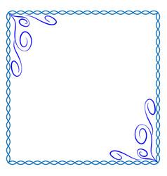 frame blue 5 2012 vector image