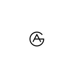 Ga logo monogram design vector