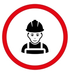 Glad Worker Flat Rounded Icon vector