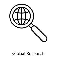 global research vector image