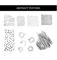 grunge abstract textures set vector image