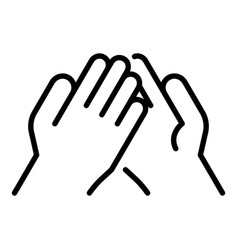 Handshake wrestle icon outline style vector