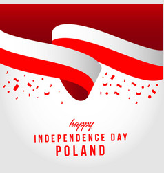 Happy poland independent day template design vector
