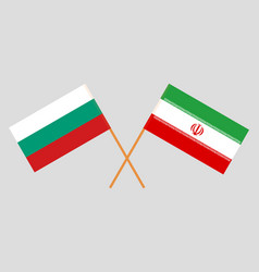 He iranian and bulgarian flags vector