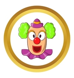 Head of clown icon vector image