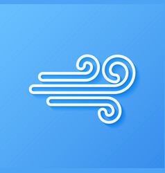 Icon weather wind vector
