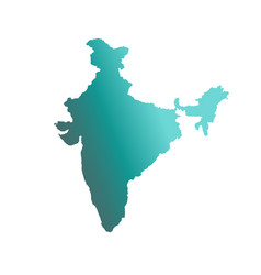 india country map vector image