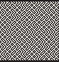 Irregular maze lines seamless black and vector
