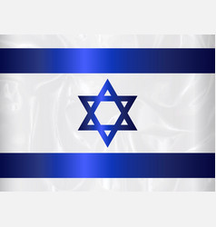 israel star of david flag vector image