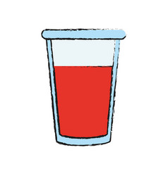 Juice in glass cup icon image vector