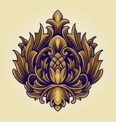 kingdom crown symbol ornate logo vector image