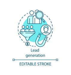 Lead generation blue concept icon digital vector