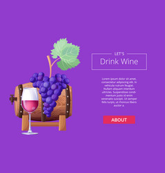 let s drink wine web page vector image
