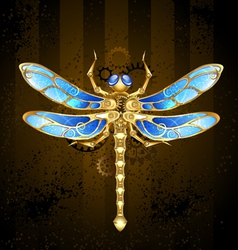 Mechanical Dragonfly vector image