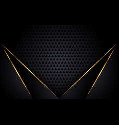 Modern black background with golden accent vector