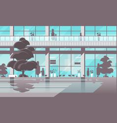 Modern hospital building exterior empty no people vector