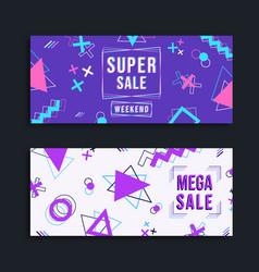modern sale template colorful geometric set vector image