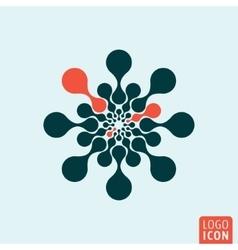 Molecule logo icon vector