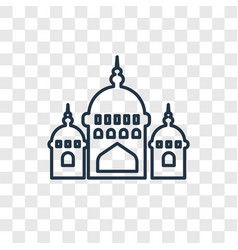 Mosque domes concept linear icon isolated on vector