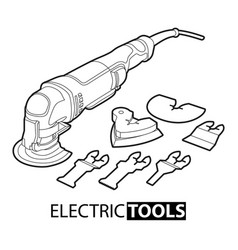 Multi tool on white background vector