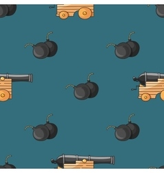 Old cannons drawings pattern vector