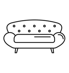 Old sofa icon outline style vector