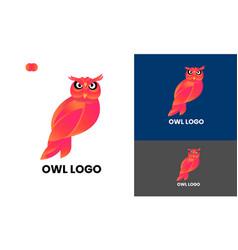 Owl brid logo template design vector