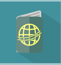 passport icon set of great flat icons with style vector image