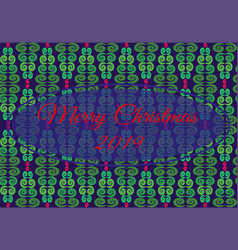pattern with geometric pattern from christmas tree vector image