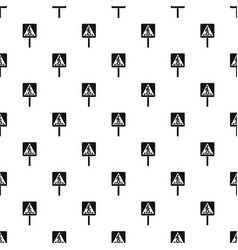 Pedestrian sign pattern vector