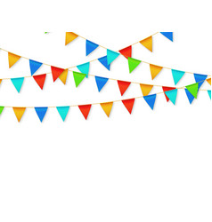 pennant flag garland birthday party fiesta vector image