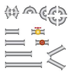 Pipes plumbing set vector