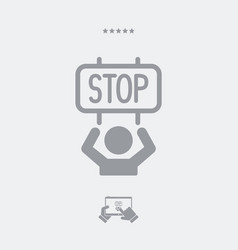Protest for the stop - web icon vector