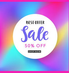 sale banner template for online shopping vector image