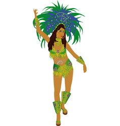 Samba dancer vector
